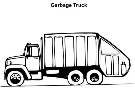 printable coloring pages garbage truck garbage truck coloring pages clipart best