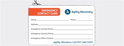 Update Your Emergency Wallet Card Disaster Recovery Tip 16 Agility Recovery Contact Card Template