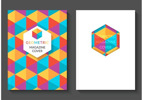 svg pattern cover free colorful geometric magazine vector covers download