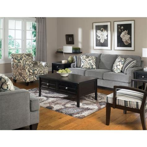 living room grey walls  sofa patterned chairs living