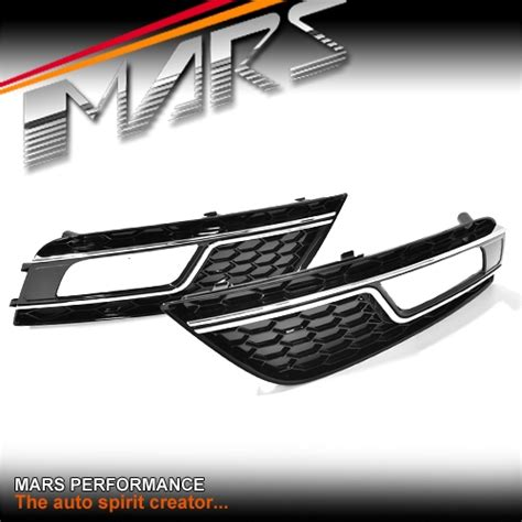 Front Grille Cover Bentley Chrome With Bumper Black Nissan March chrome black rs4 style front bumper bar fog lights cover grille for audi a4 b8 12 13 mars