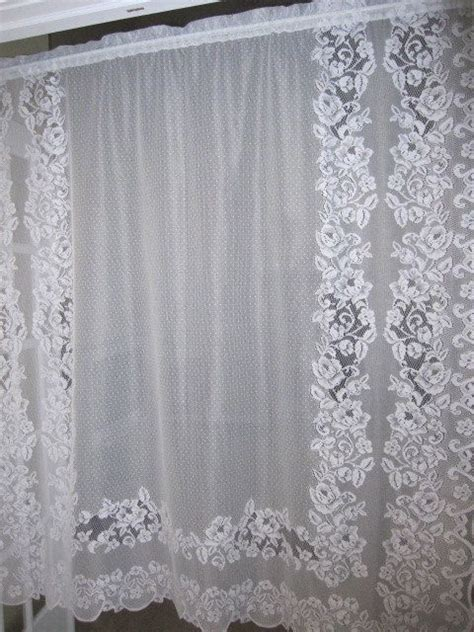 white lace curtain panels lace curtain white floral lace curtain panel 58 x 62