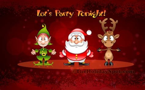 wallpaper christmas party christmas party tonight wallpapers from theholidayspot