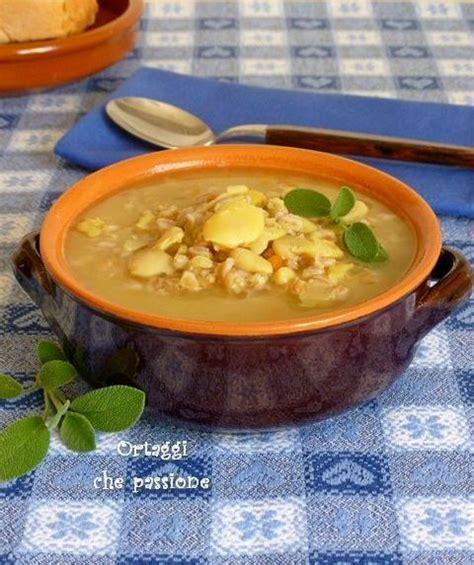 come cucinare le fave secche zuppa con fave secche ortaggi passione
