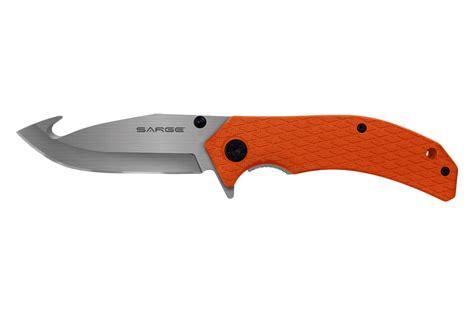 folding gut hook knife adrenaline assist folding gut hook