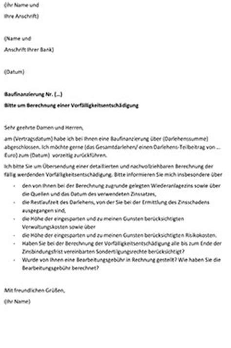 Bearbeitungsgebühr Kredit Urteil Musterbrief Vorf 228 Lligkeitsentsch 228 Digung Anleitung Mit Musterschreiben