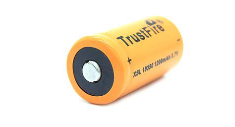 Trustfire 18350 Li Ion Battery 1200mah 3 7v Rechargeable Black 1 5 54 trustfire xsl18350 3 7v quot 1200mah quot rechargealbe li