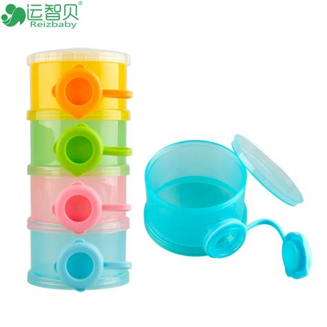 Piccono Milk Powder Box four lattice brand newborn baby food storage containers bpa free cups formula milk powder box