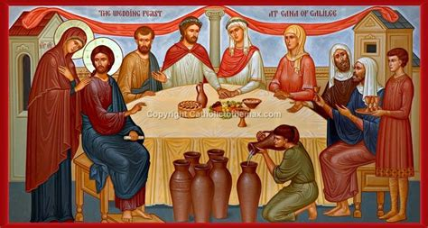 Wedding At Cana Icon by Quot The Wedding Feast Of Cana Quot Icon Wall Plaque Catholic To