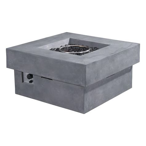 propane pits with glass rocks zuo diablo 36 in glass rocks propane pit in gray 100413 the home depot