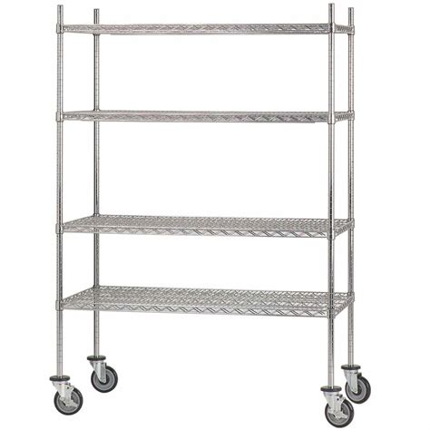 advance tabco shelving advance tabco mc 2448p chrome plated mobile wire shelving