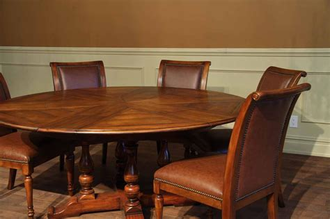 rustic large solid walnut dining table opens to 100