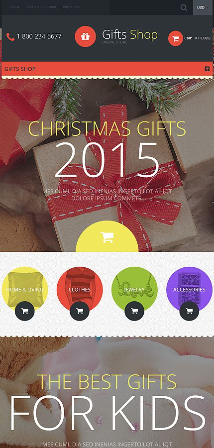 shopify themes gifts gifts store responsive shopify theme 55607