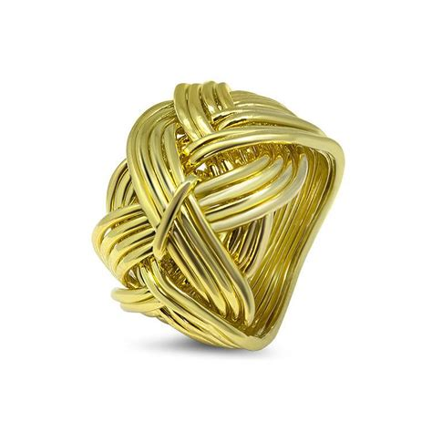mens gold 17d m puzzle rings creations