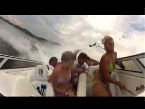 boat crash ta funny speedboat accident youtube