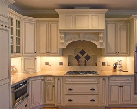 glazed cream cabinets home design ideas pictures remodel
