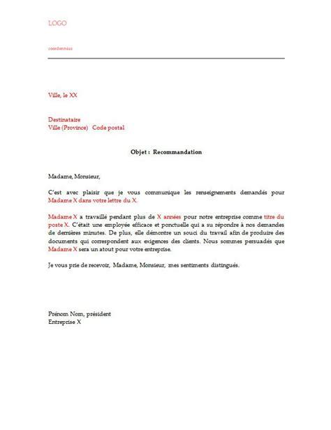 Lettre De Recommandation Gardienne Lettre De Recommandation Pour Un Employ 233 Lettre De Recommandation