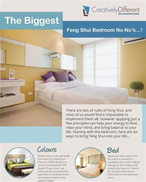 5 exles of bedroom feng shui that actually make sense 30 best images about home infographics on pinterest home