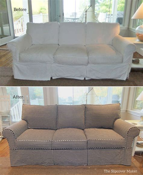 custom sofa slip covers custom sofa slipcover in gingham the slipcover maker