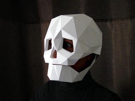 cardboard skull template fantastic papercraft mask patterns