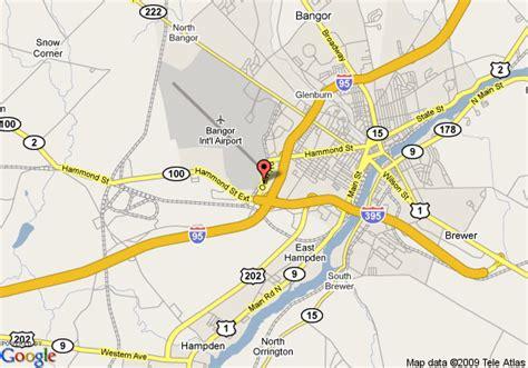 bangor maine map map of fairfield inn bangor bangor