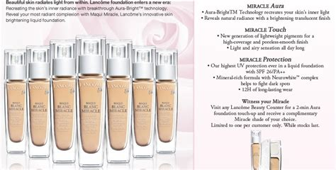 Liquid Foundation Lancome deluxe lancome maqui blanc miracle liquid foundation