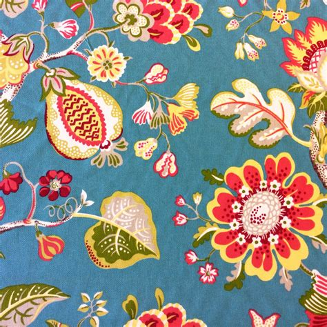 Tropical Home Decor Fabric by Floral Bold Tropical Fruit Floral Woven Outdoor Indoor