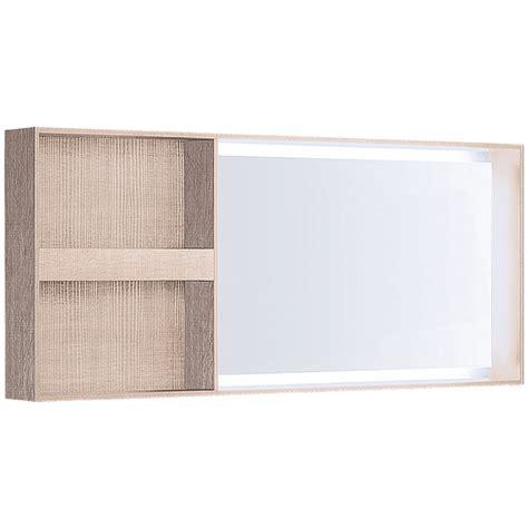 Illuminated Bathroom Mirrors With Shelf Geberit Citterio Illuminated Mirror Lateral Storage Shelf