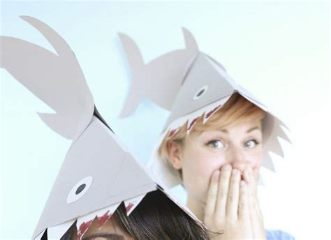 How To Make A Paper Shark Hat - make your own shark hat for your underwater