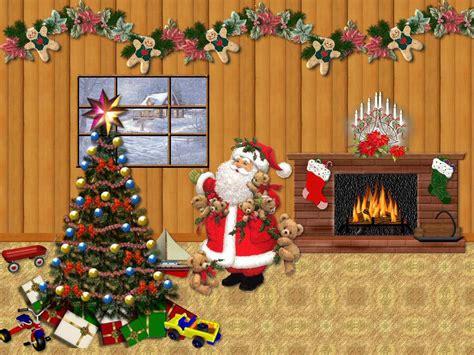 imagenes de santa claus para fondo de pantalla fondos de pantalla de arbol de navidad y santa claus
