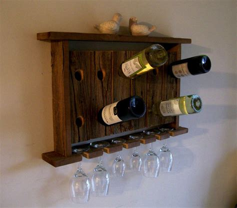 Wine Glass Shelf Rack by Wine Rack Wine Glass Holder Wall Shelf Riddling By