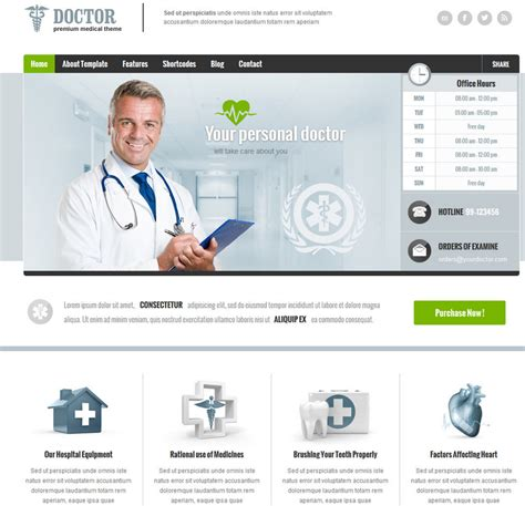 Doctor Wordpress Theme For Medical Professionals Wp Solver Doctor Website Template Free