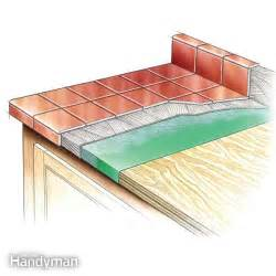 how to tile countertops the family handyman