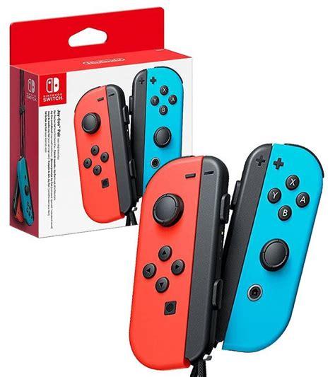 Original Nintendo Switch Con Controller Blue nintendo switch con controllers pair neon and blue by nintendo pegi rating e
