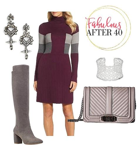 Go Five Maroon Sweater by 5 Ways To Wear A Sweater Dress Fabulous After 40