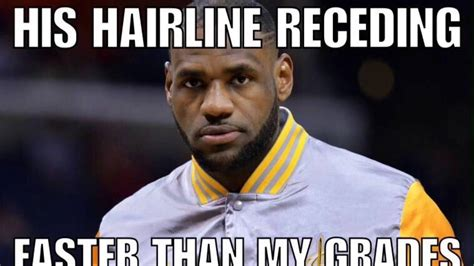 Receding Hairline Meme - rip lebrons hairline memes youtube