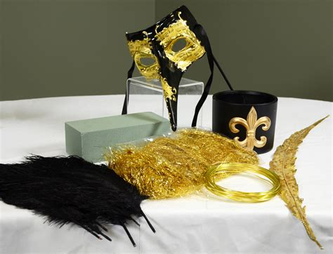 black and gold centerpieces ideas by mardi gras outlet black gold masquerade mask centerpiece tutorial