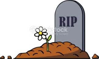 Affordable Funeral Flowers - cartoon grave with tombstone and flower vector