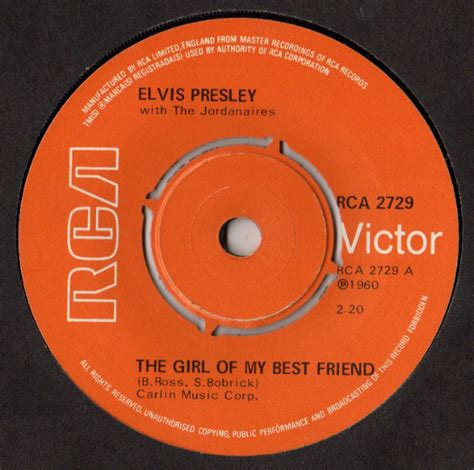elvis presley the girl of my best friend elvis presley with the jordanaires the girl of my best