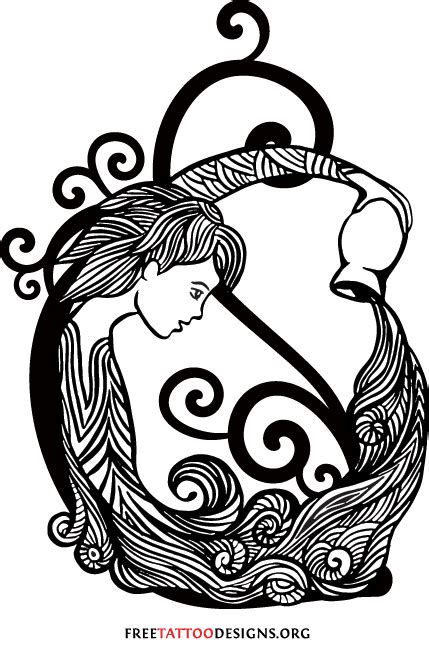 water bearer tattoo designs aquarius water bearer design zodiac
