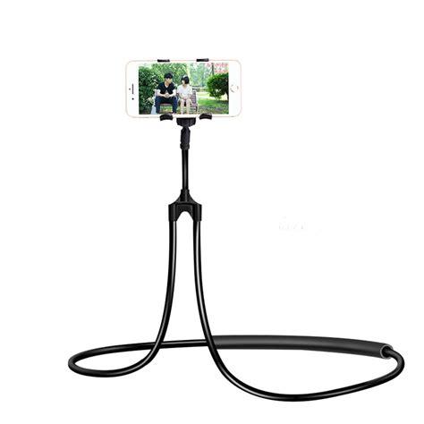 Lazy Neck Holder Smartphone Stand Mount Holder Hp Leher universal lazy hanging neck phone stand mount necklace support bracket holder ebay
