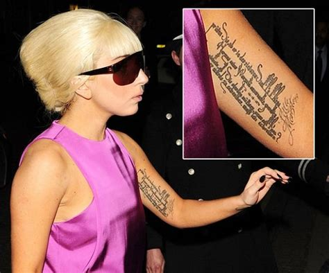 lady gaga rilke tattoo meaning and translation of her