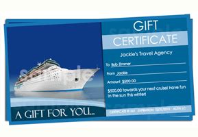 travel certificate template travel gift certificate templates easy to use gift