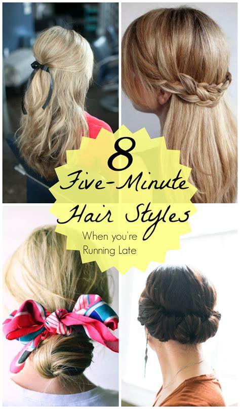 running late 5 minute hair styles mythirtyspot