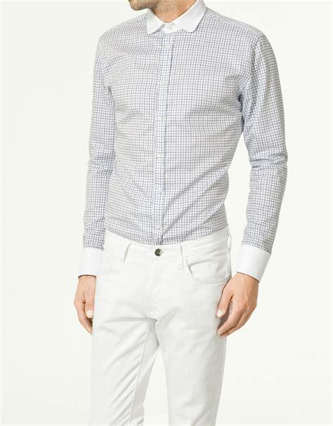 Zara Club zara club collar shirt in white for lyst