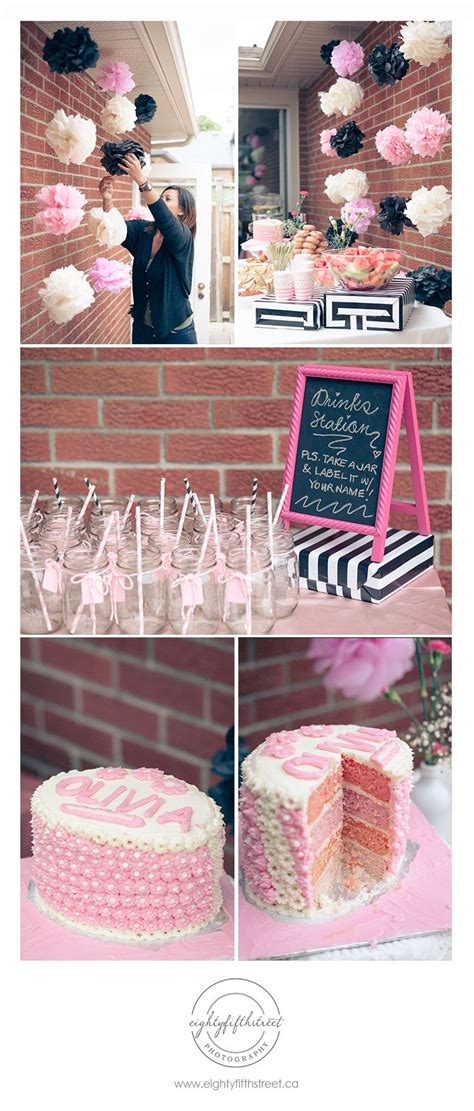 a pink black and white themed bridal shower jess pearl pearl pearl pearl pearl liu raley