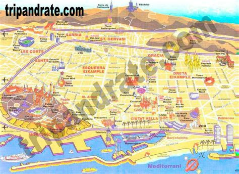 barcelona map tourist attractions 25 best ideas about barcelona tourist map on