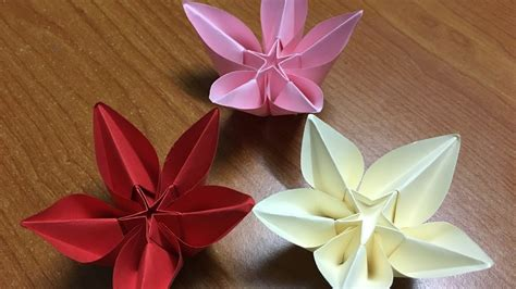 Carambola Origami Flowers - how to make origami flower carambola diy tutorial