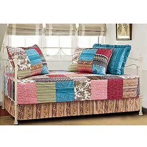 new bohemian quilted reversible daybed bedding set bed