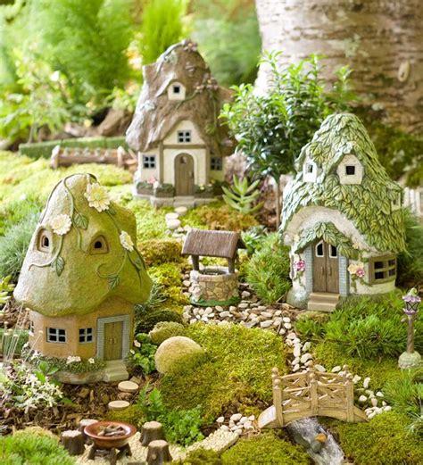 fairy homes round solar fairy house mini fairy gardens plow hearth